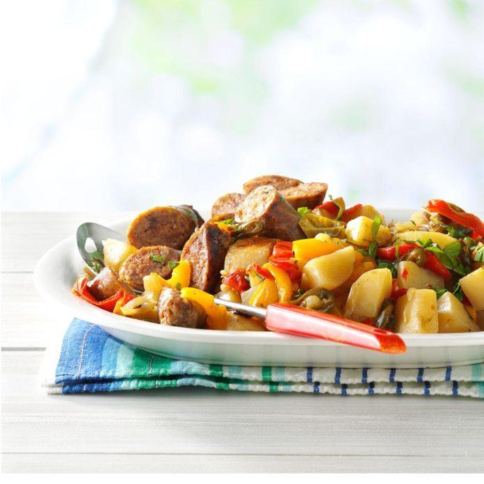 Sausage with Jalapeno Potatoes