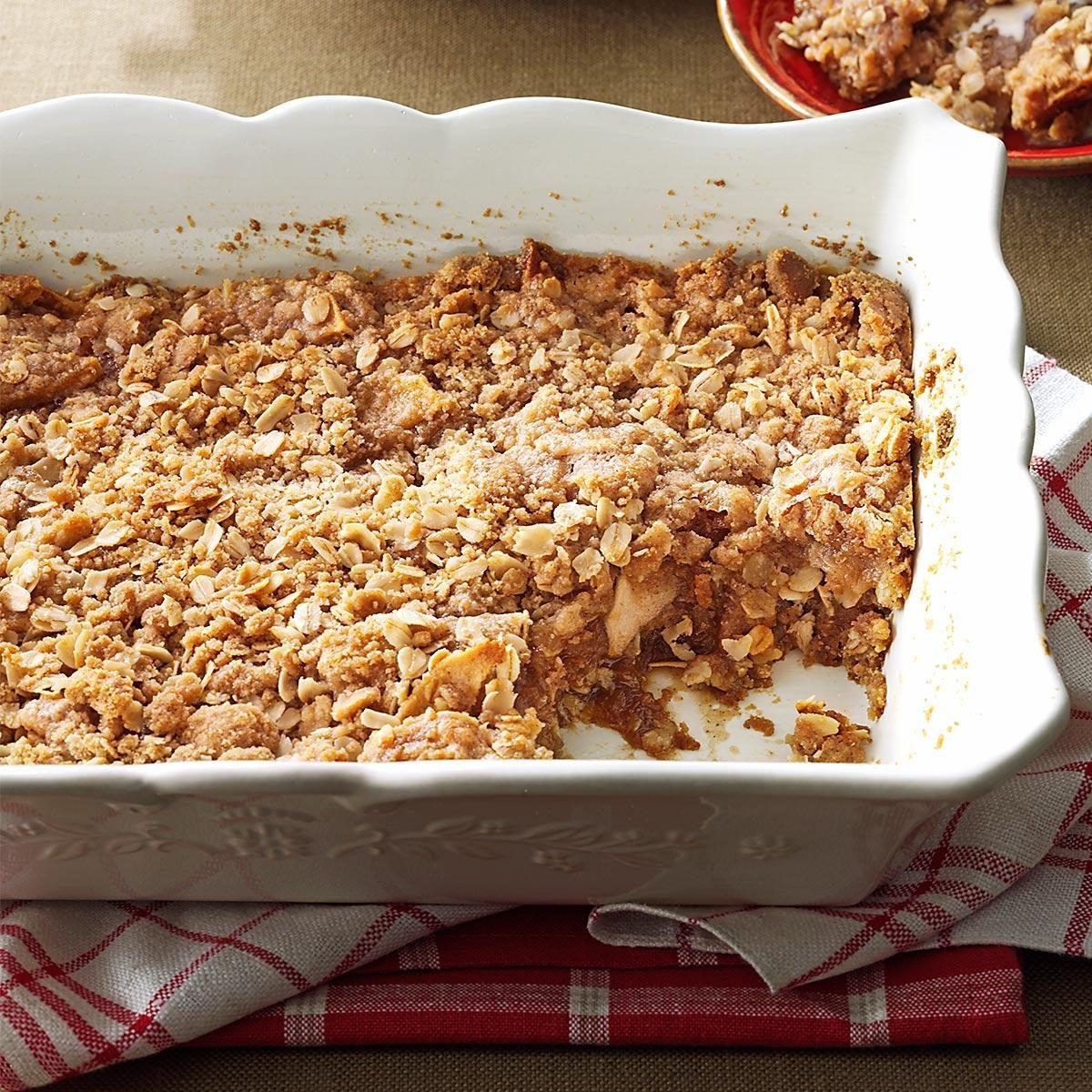 Two-Layered Apple Crisp Recipe