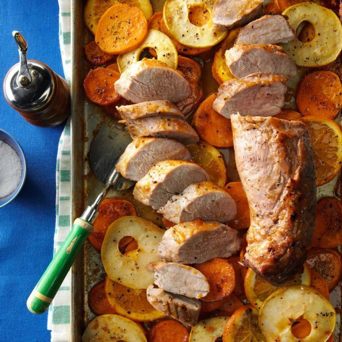 Day 1: Orange-Glazed Pork with Sweet Potatoes