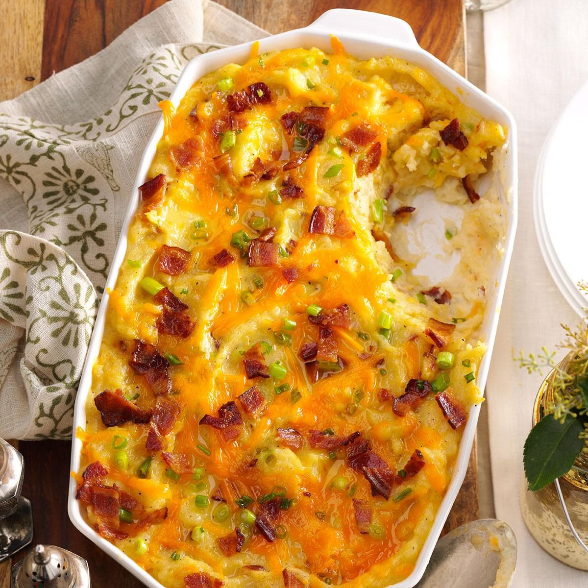 Twice-Baked Cheddar Potato Casserole Recipe