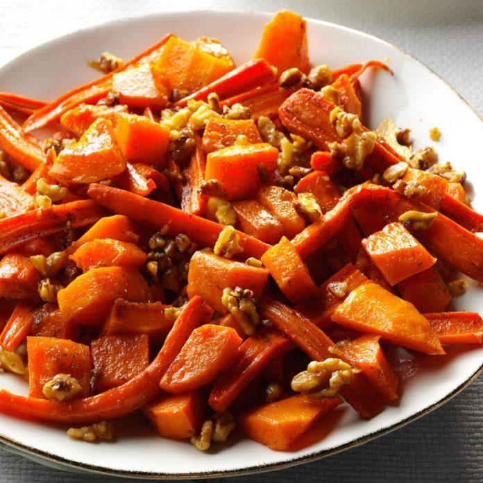 Non-Dairy Roasted Squash, Carrots & Walnuts