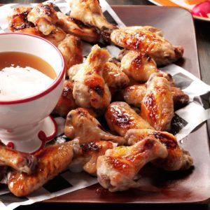Air-Fryer Quentin's Peach-Bourbon Wings