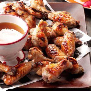 Quentin's Air-Fryer Peach-Bourbon Wings