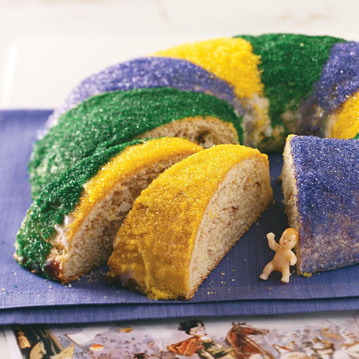 king cake recipe traditional new orleans king cake recipe taste of home 5318