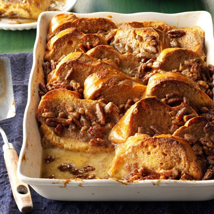 Oven French Toast With Nut Topping
