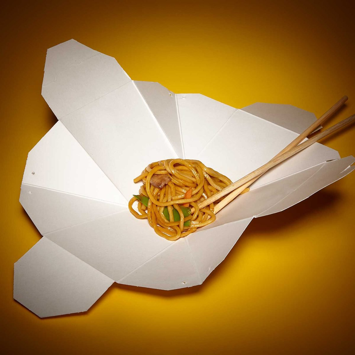 Unfolded Chinese take out container