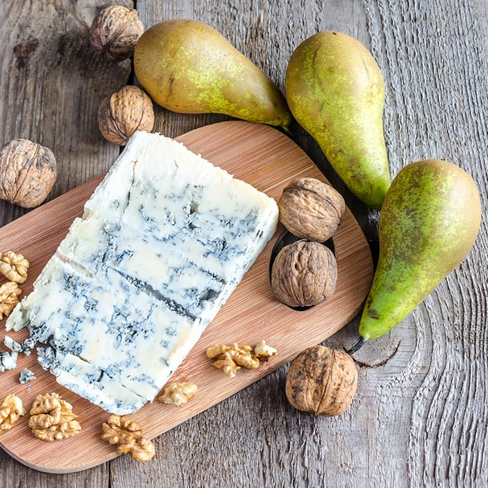 Blue cheese with pears and walnuts; Shutterstock ID 171489659; Job (TFH, TOH, RD, BNB, CWM, CM): Taste of Home