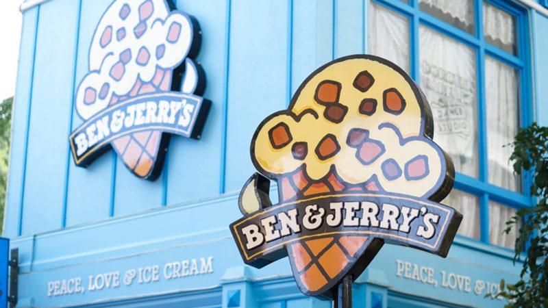 Ben & Jerry's ice cream shop in Movie World's Gold Coast.
