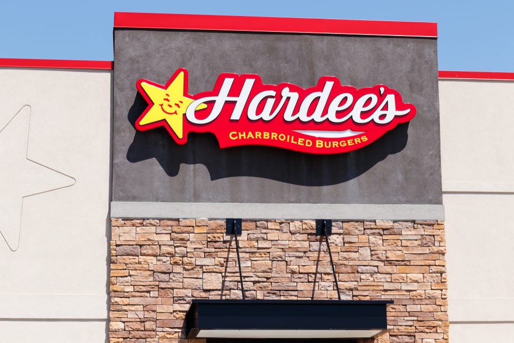 Anderson - Circa April 2018: Hardee's Retail Location. Hardee's and Carl's Jr. are Subsidiaries of CKE Restaurants II