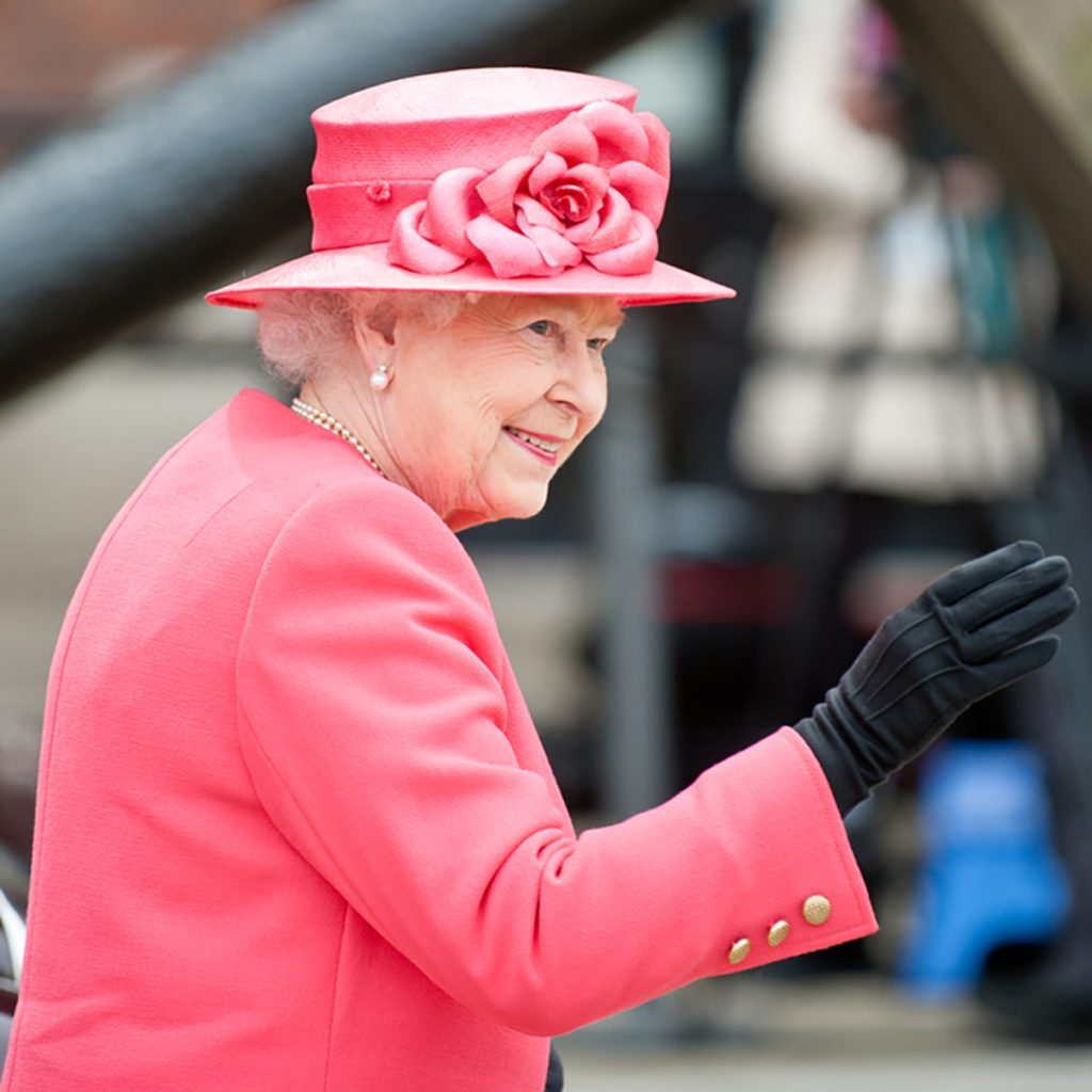 LIVERPOOL, ENGLAND - MAY 17 2012: Her Royal Highness Queen Elizabeth II visits Liverpool Albert Dock during her Diamond Jubilee tour of Great Britain, Liverpool, England. May 17 2012; Shutterstock ID 114857485