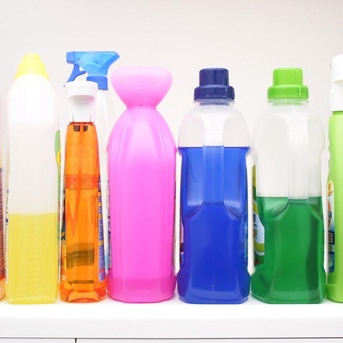 Colorful, wash gel, detergent, cleaning, bottles;