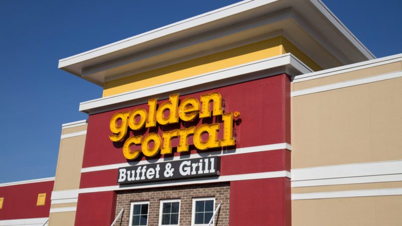 Exterior of Golden Corral Buffet and Grill restaurant