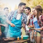 Friends having a barbecue party in nature while having a blast; Shutterstock ID 607634918; Job (TFH, TOH, RD, BNB, CWM, CM): TOH