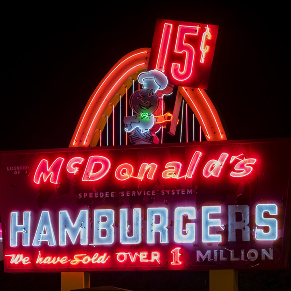 Des Plaines, IL - May 20, 2017: First ever location of McDonald's, located at 400 Lee St in Des Plaines, IL, at night, which is now a McDonald's Museum, is seen in state of despair. ; Shutterstock ID 644462128; Job (TFH, TOH, RD, BNB, CWM, CM): Taste of Home