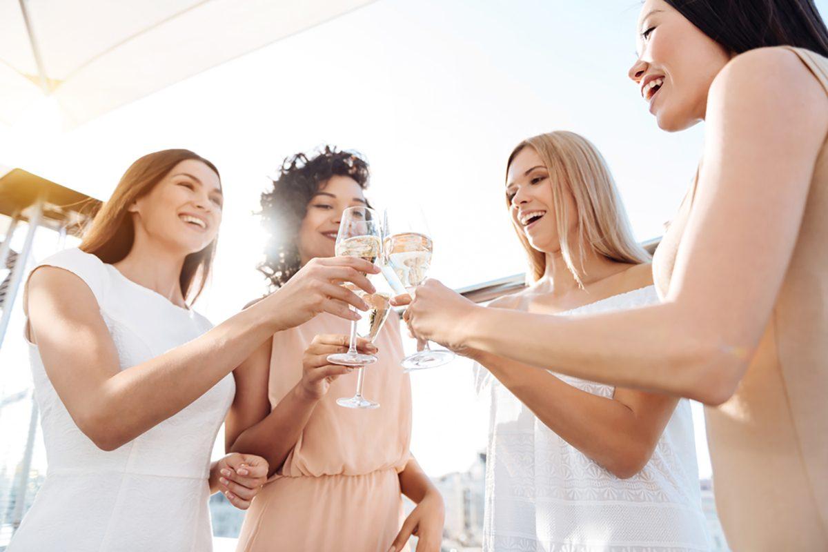 Women celebration friendship festive