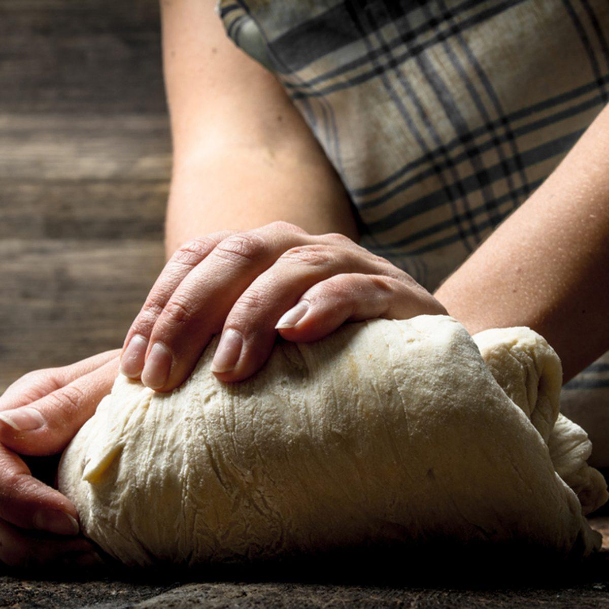 Preparation of fresh dough.