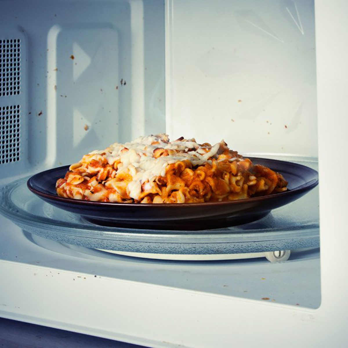 dish in the microwave