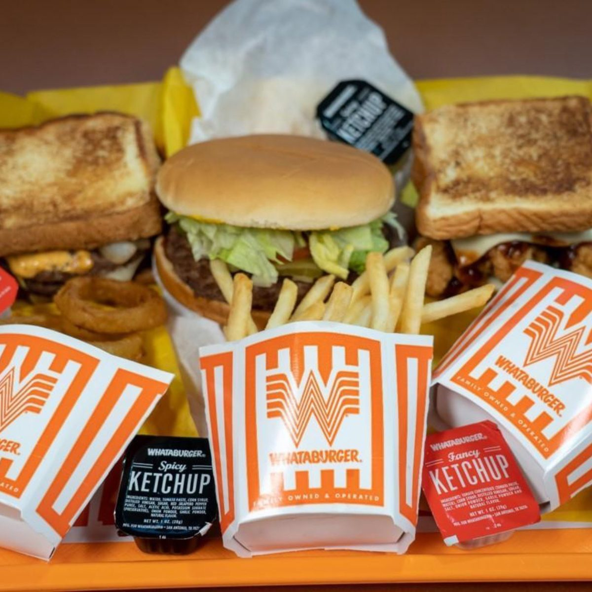 Whataburger food on a tray