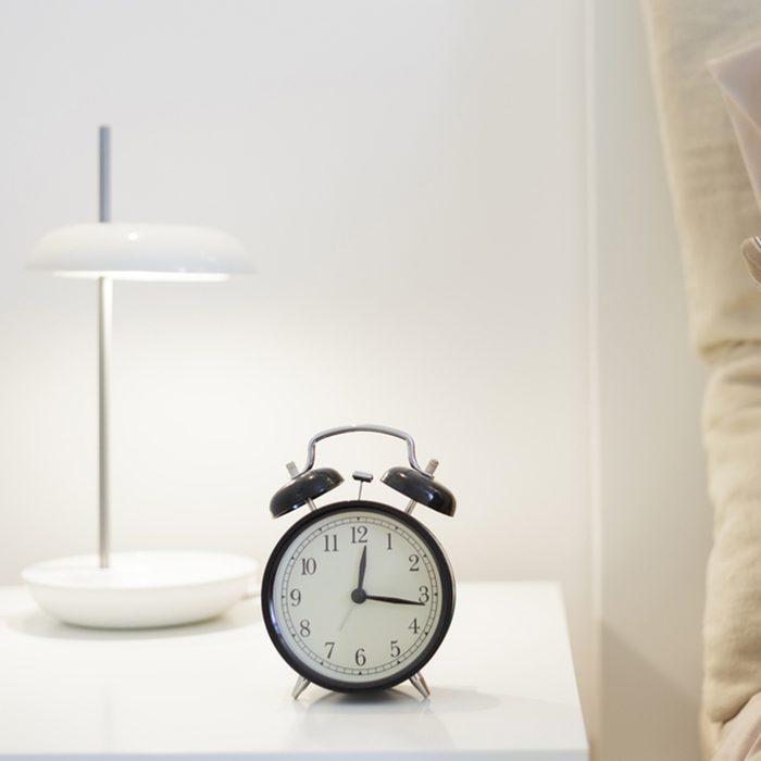 Alarm clock on the nightstand