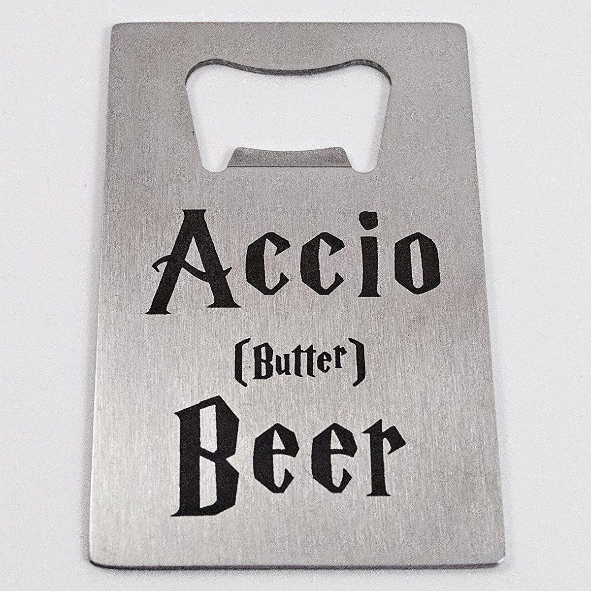 Harry Potter Accio Butterbeer bottle opener via Amazon / Light Knife Studio
