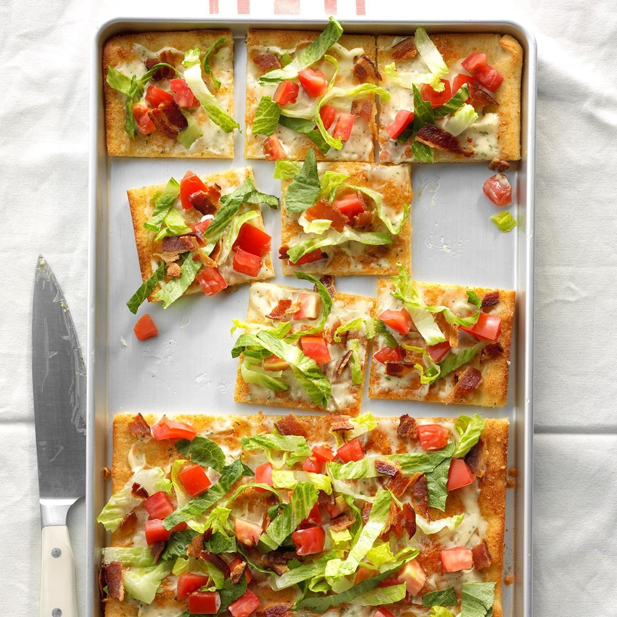 Day 1 Dinner: Bacon, Lettuce and Tomato Pizza