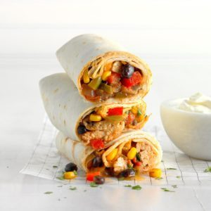 Black Bean Chicken Burritos