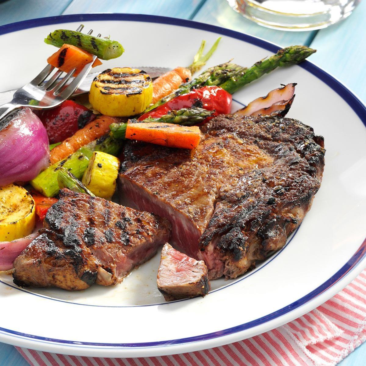 Caribbean Grilled Ribeyes Recipe