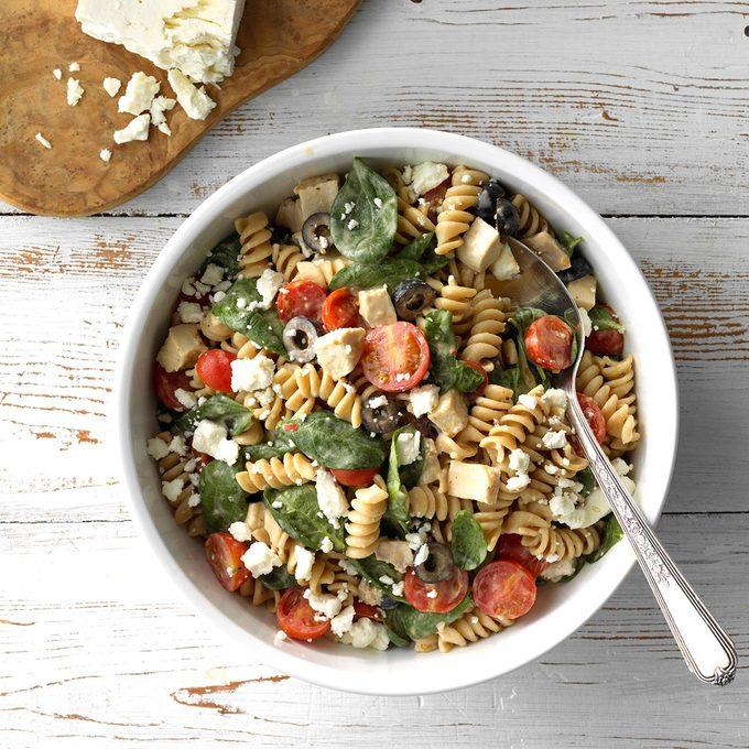 Chicken And Hummus Pasta Salad Exps Sdas18 199593 C03 28  8b 2