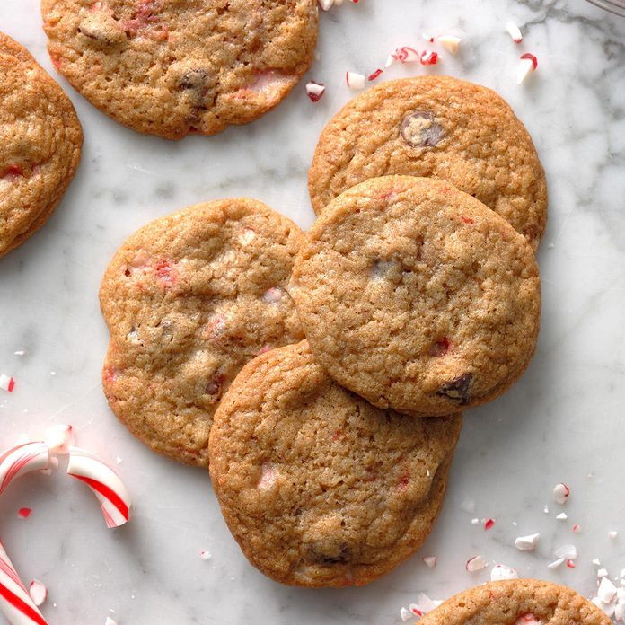 Chocolate Toffee Peppermint Cookies
