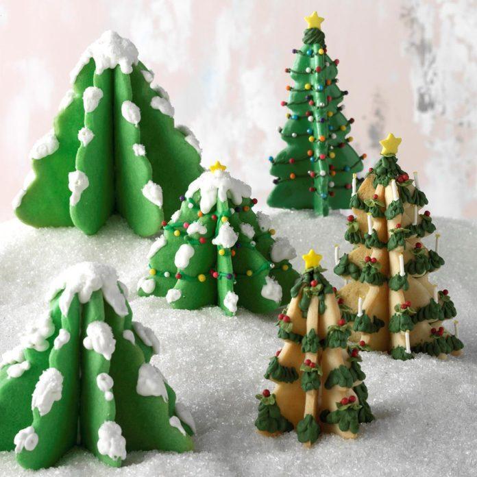 Christmas Tree Cookies Recipe | Taste of Home