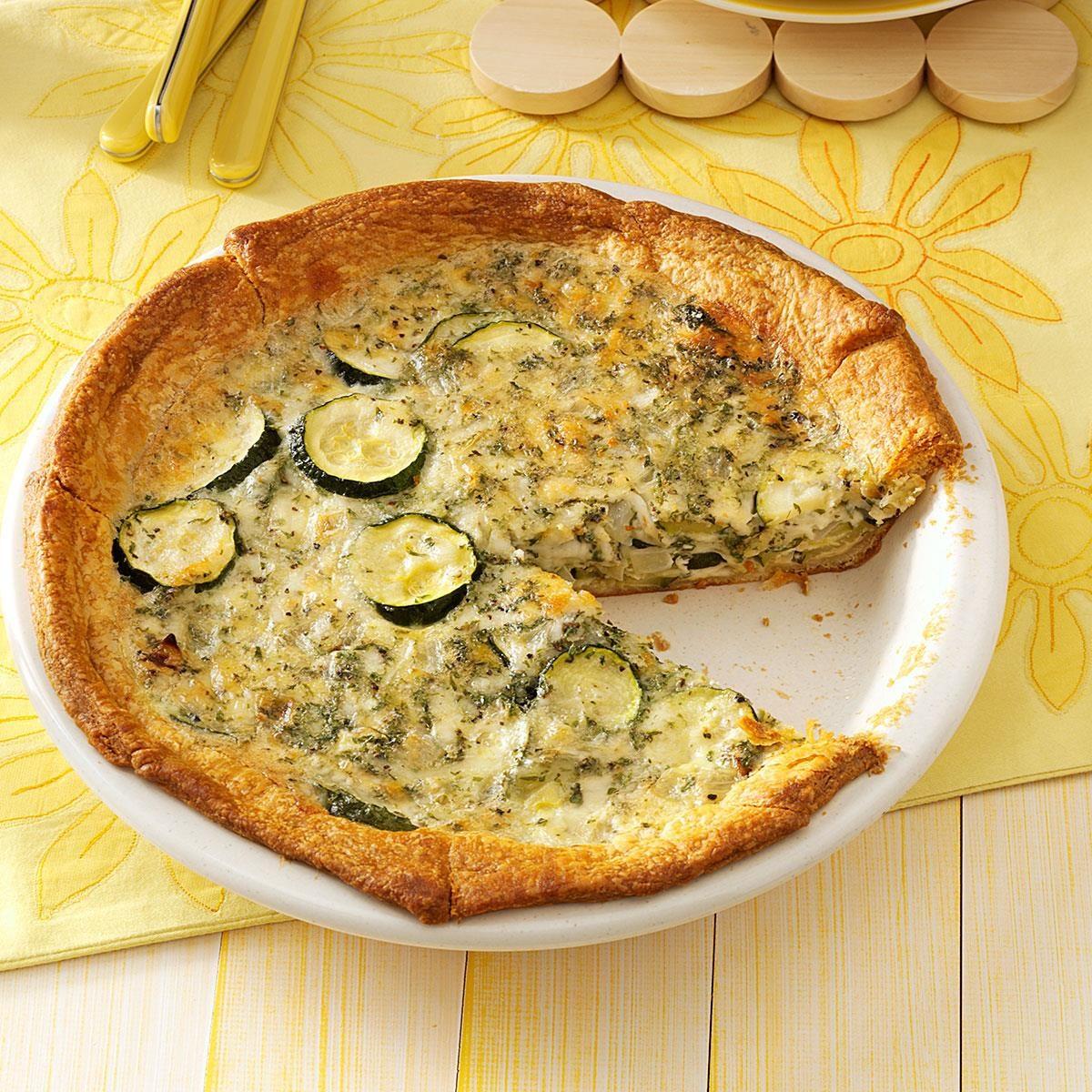 crescent zucchini pie recipe taste of home