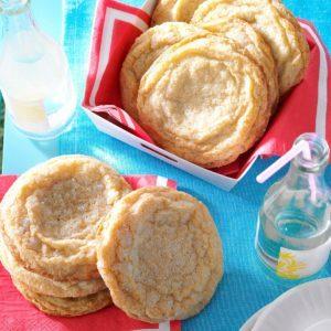 Giant Lemon Sugar Cookies
