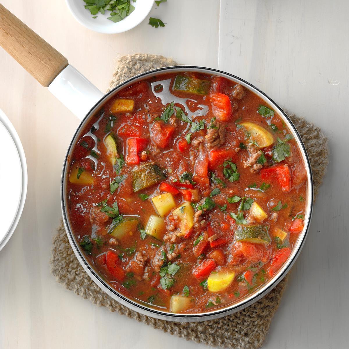 Ground Beef Veggie Stew Recipe