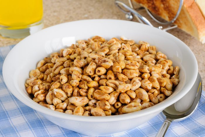 Honey coated puffed wheat breakfast cereal; Shutterstock ID 793947028; Job (TFH, TOH, RD, BNB, CWM, CM): TOH Honey Smacks Recall