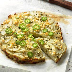Jalapeño & Cotija Cheese Potato Stack Pie