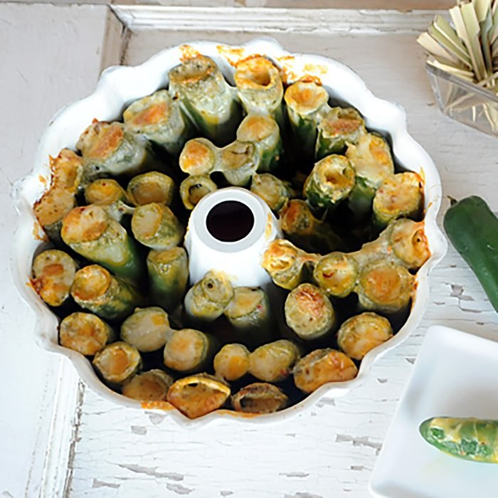 Bundt Pan Bacon Cheesy Jalapeno Poppers from Zestuous