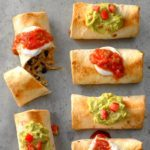 Shorcut Oven-Baked Chicken Chimichangas