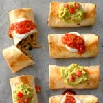 Shortcut Oven-Baked Chicken Chimichangas