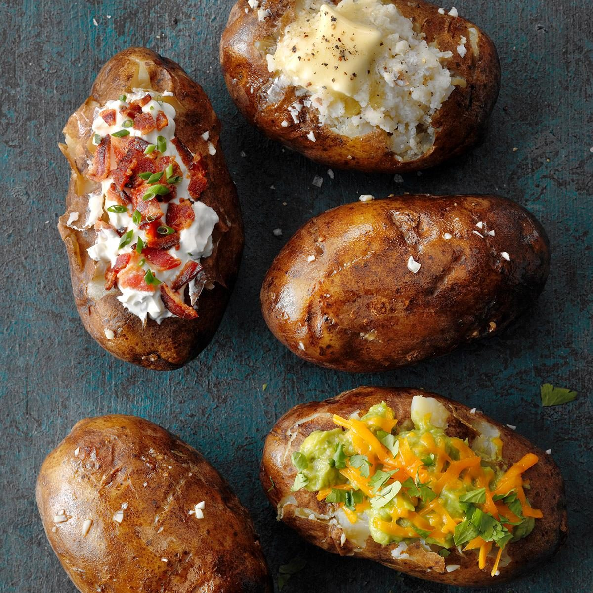 Slow-Cooker Baked Potatoes Recipe