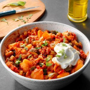 Slow-Cooker Chickpea Tagine