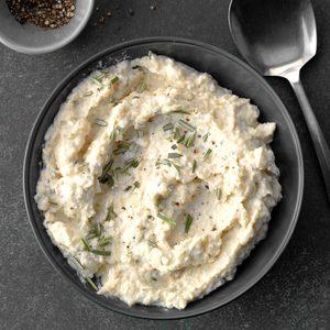 Slow-Cooker Garlic-Rosemary Cauliflower Puree