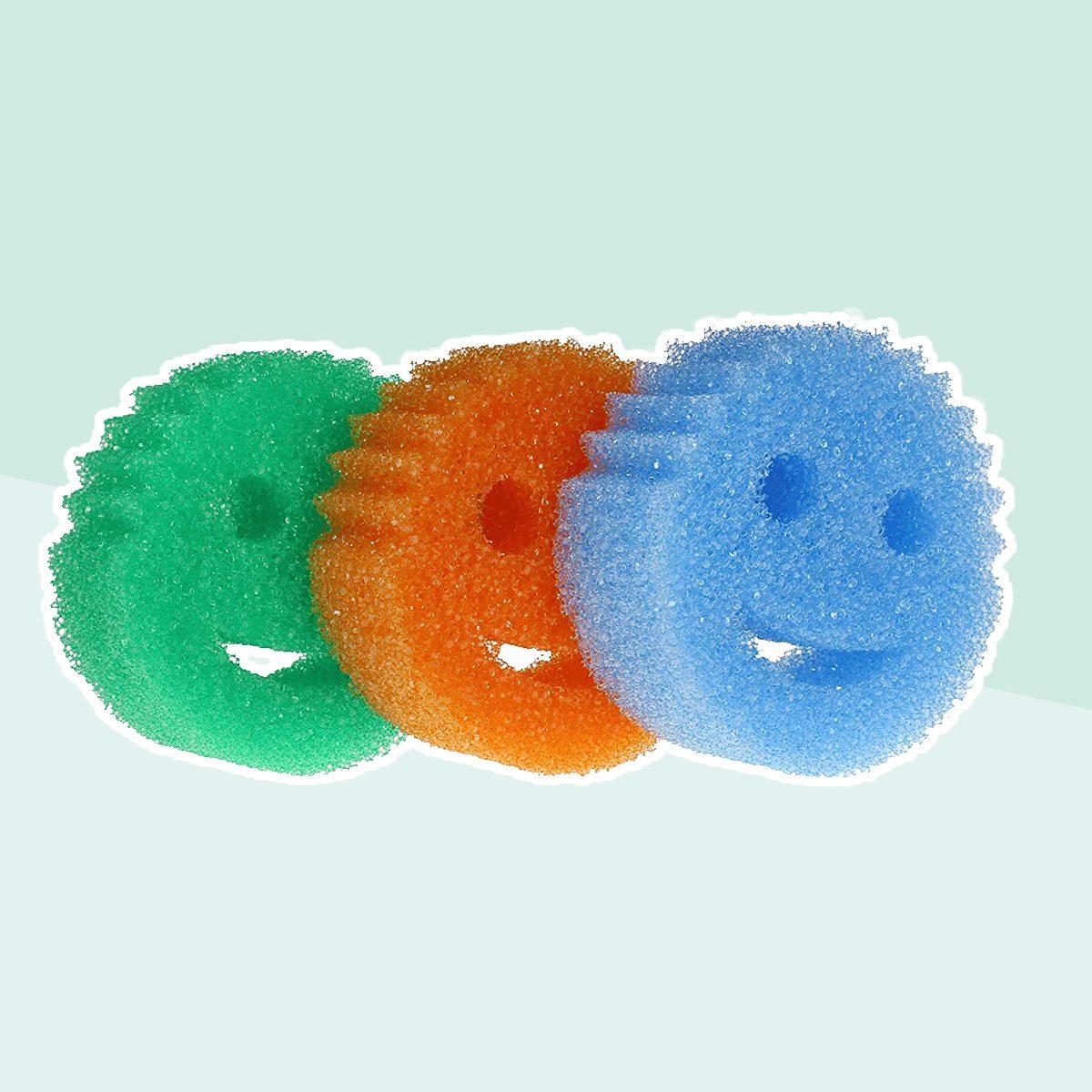 Scrub Daddy - Original Temperature Controlled Colored Scrubber - Scratch-Free & Odor Resistant - 6 Count