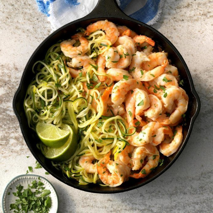 Day 5: Tequila Lime Shrimp Zoodles