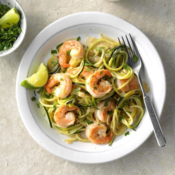 Day 7: Tequila Lime Shrimp Zoodles