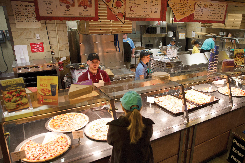 Wegmans supermarket pizza bar