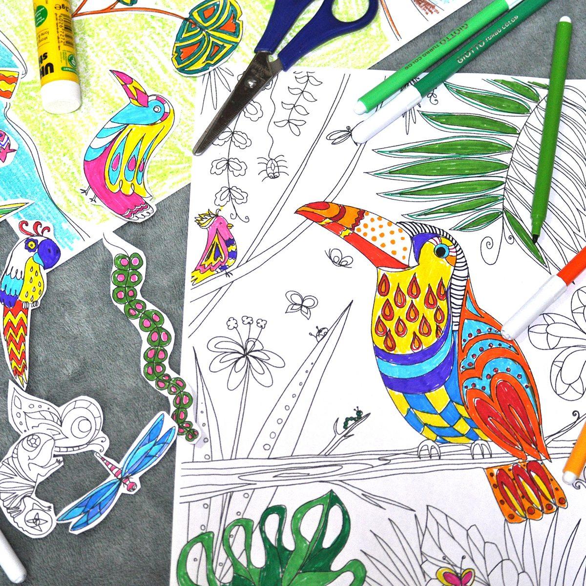 4 printable coloring sheets