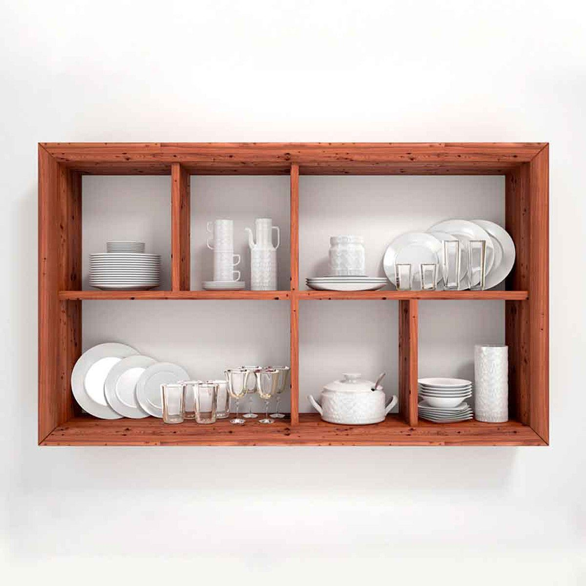 organized shelving unit
