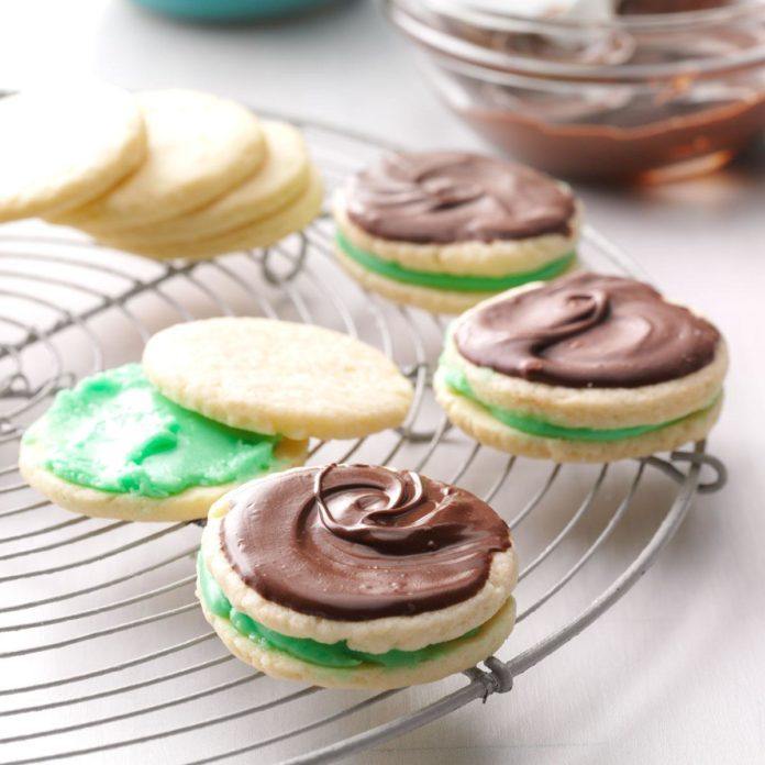 Tennessee:  Creme de Menthe Cookies