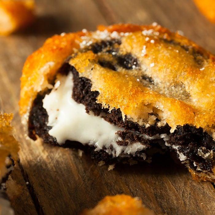 Deep Fried Chocolate Cream Cookies at the Fair; Shutterstock ID 408718897; Job (TFH, TOH, RD, BNB, CWM, CM): Taste of Home