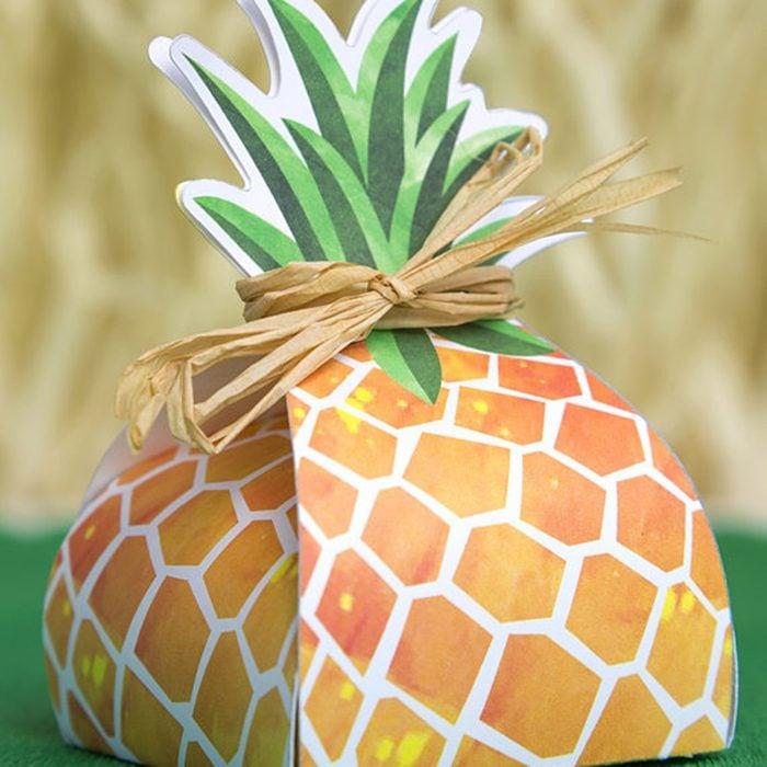 Pineapple Favor Box printable